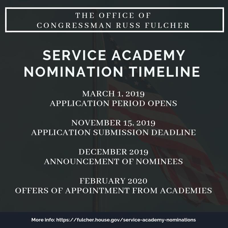 Nomination Timeline   Congressman Russ Fulcher